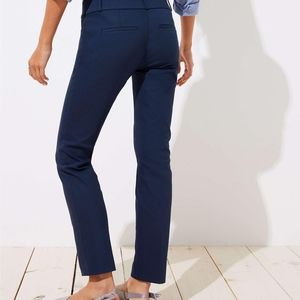 Loft Marisa Straight Navy Career Pants 0 Petite